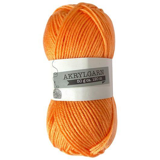 Akrylgarn 50 g - lys orange