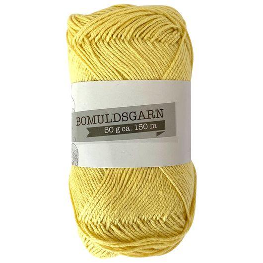 Bomuldsgarn 50 g - Støvet gul