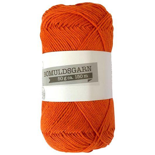 Bomuldsgarn 50 g - orange