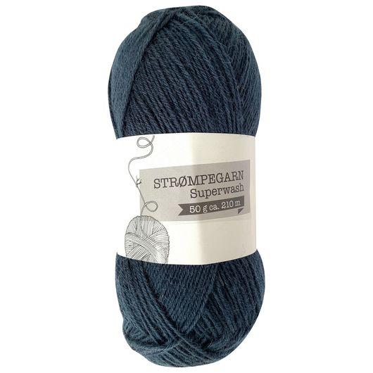 Strømpegarn 50 g - mørkeblå