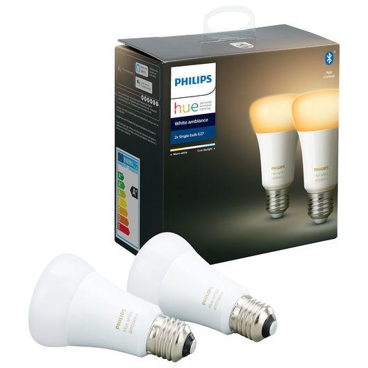 Philips HUE - Pære E27 8,5W 2-pak dæmpbar