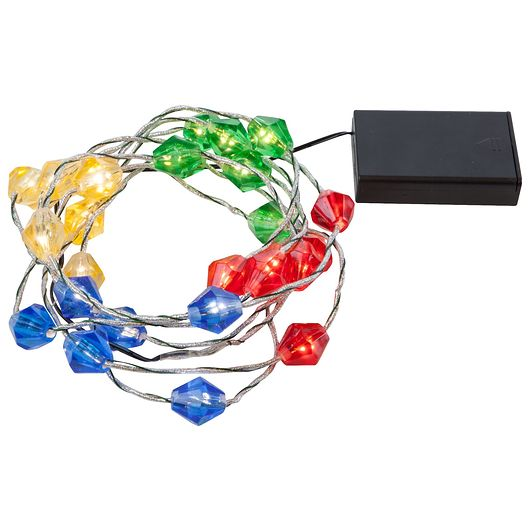 LED lyskæde diamantformet multifarver