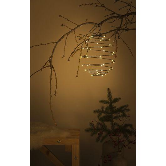 Nowel - Spiral lanterne ophæng batteri og timer
