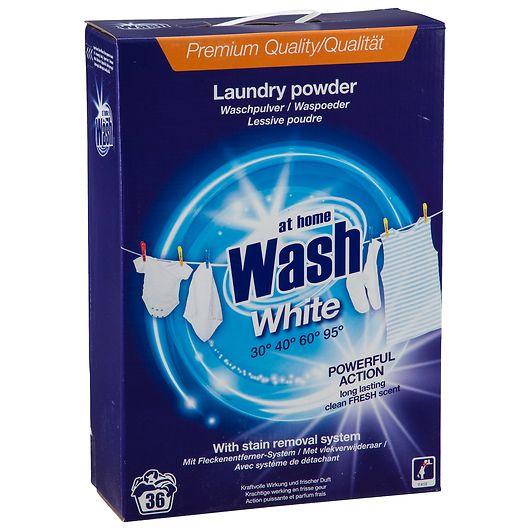 At Home Wash vaskepulver 3 kg - White