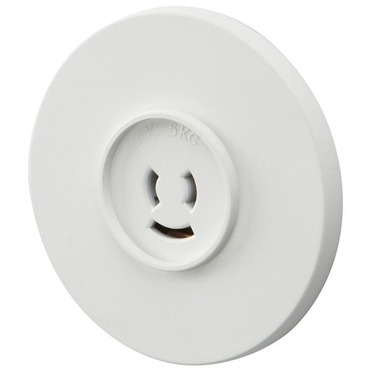 Dæksel lampestik hvid