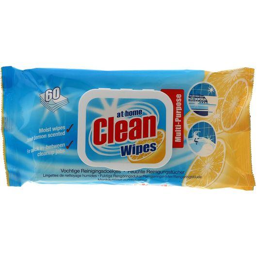 At Home Clean rengøringsserviet 60-pak - Lemon