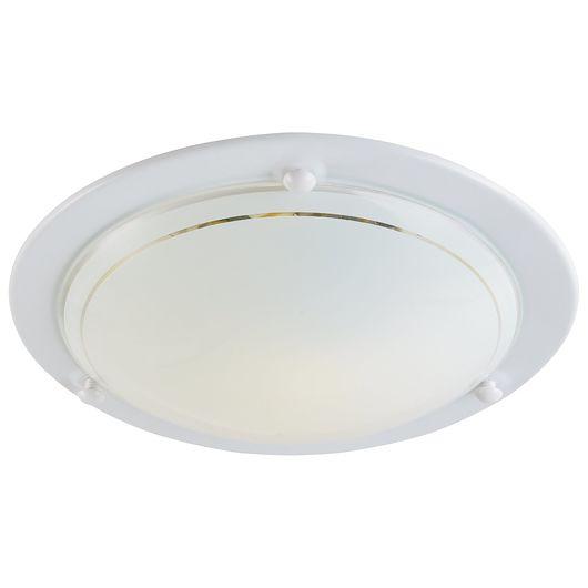 Plafond 60 W E27 Ø. 30 cm - hvid