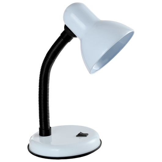 BRIGHT DESIGN - Bordlampe med fleksibel arm - hvid