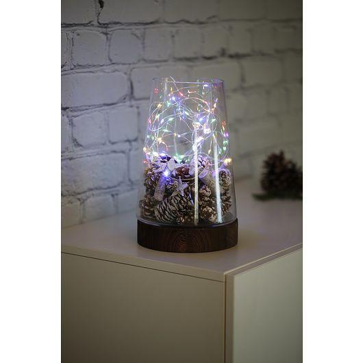 Metalwire 20 LED multifarve