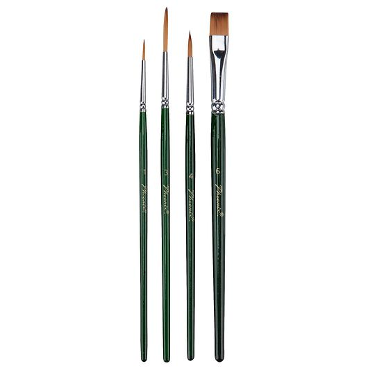 Phoenix - Penselsæt til akryl- og vandfarver