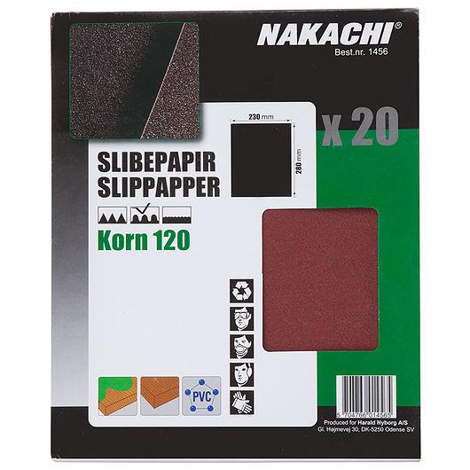 Nakachi slibepapir 23 x 28 cm K120 20 stk.