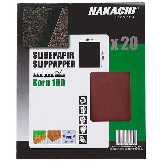 Nakachi - Slibepapir 23 x 28 cm K180 20 stk.