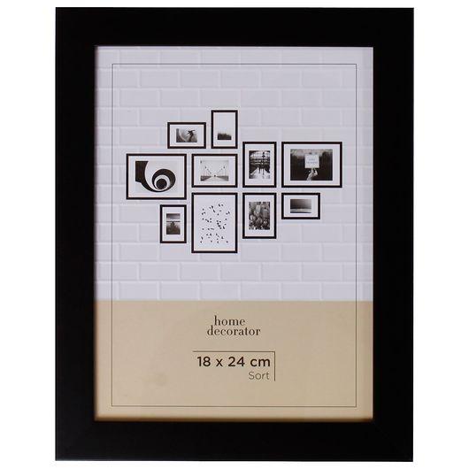 Billedramme sort - 18 x 24 cm