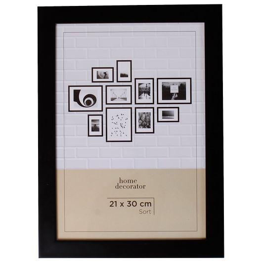 Billedramme sort - 21 x 30 cm