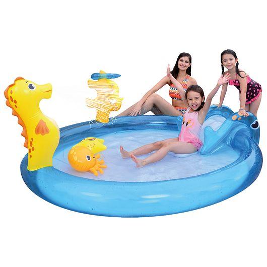 SunClub - Børnepool med minilegeland - 198 liter