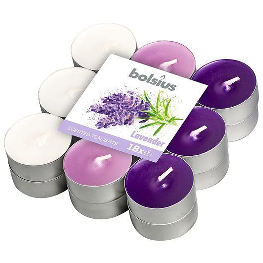 Duftfyrfadslys 18-pak - lavendel
