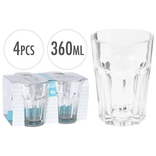 Drikkeglas/caféglas 36 cl - 4-pak