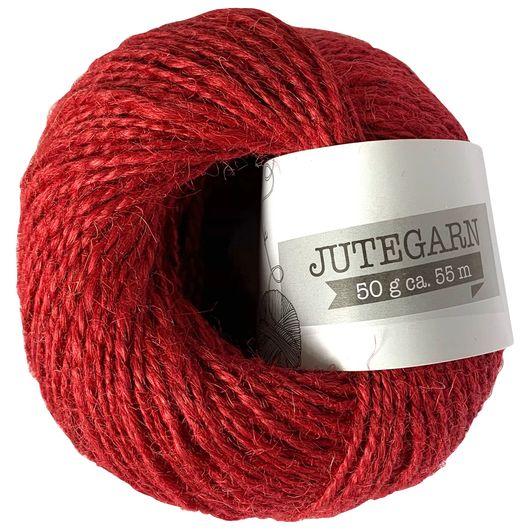 Jutegarn 50 g - højrød