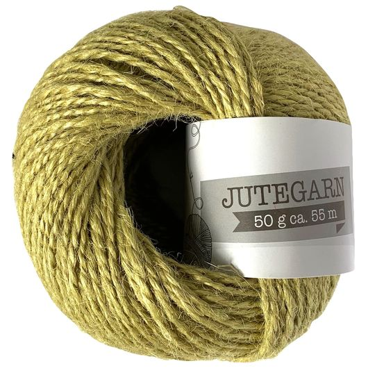 Jutegarn 50 g - lys oliven