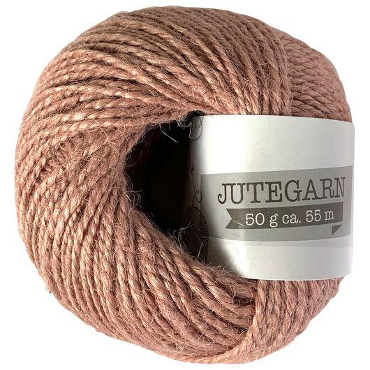 Jutegarn 50 g - støvet rosa