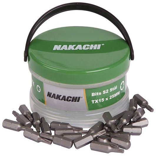 Nakachi bits TX15 25 mm 25-pak
