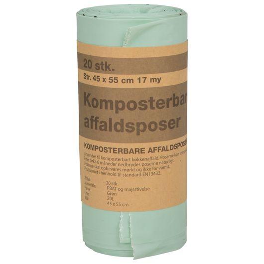 Affaldspose komposterbar 20 liter