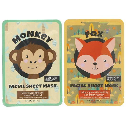 Ansigtsmaske abe/ræv 25 ml