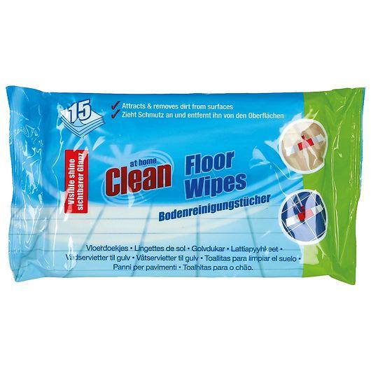 At Home Clean rengøringsserviet til gulv 15-pak
