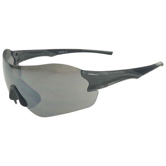 Sportsbrille - matsort med grå brilleglas