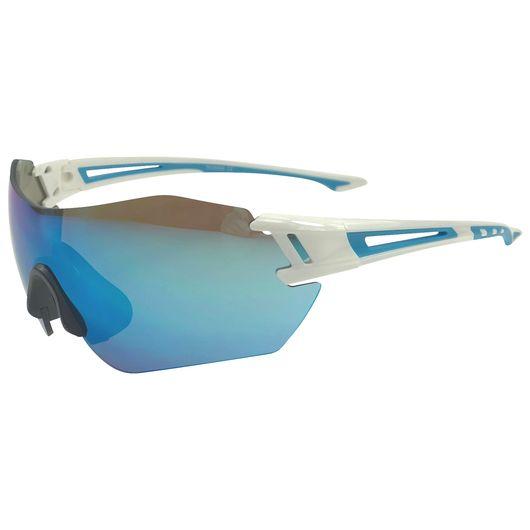 Sportsbrille - blå/hvid med changerende brilleglas