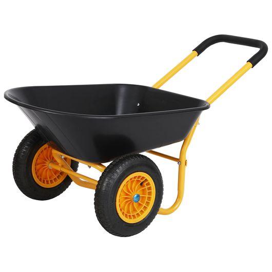 Trillebør med 2 hjul - 80 liter