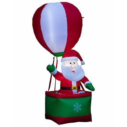 Selvoppustelig julemand i luftballon - 210 cm