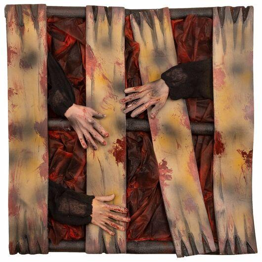 Halloween - Hængende vindue med hænder, lys og lyd