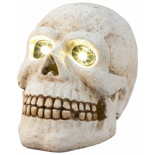 Halloween - Stort kranie med LED 26 cm
