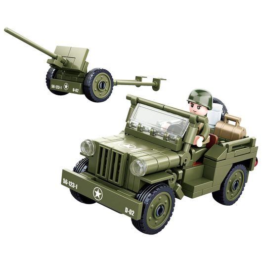 Sluban - Army - Willys Jeep 143 dele
