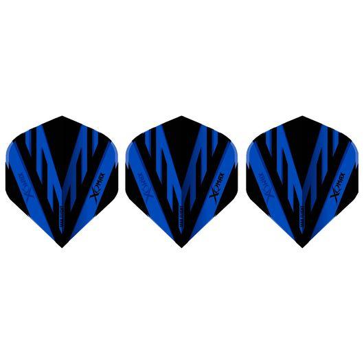 XQMAX - Dart flights - blå/sort 3-pak