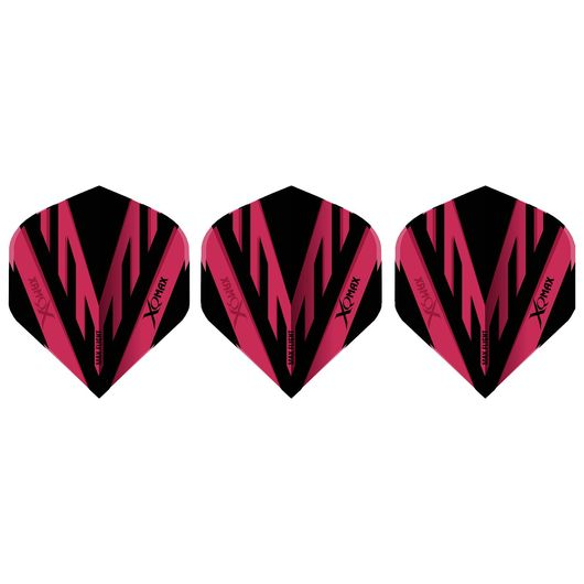 XQMAX - Dart flights - rød/sort 3-pak