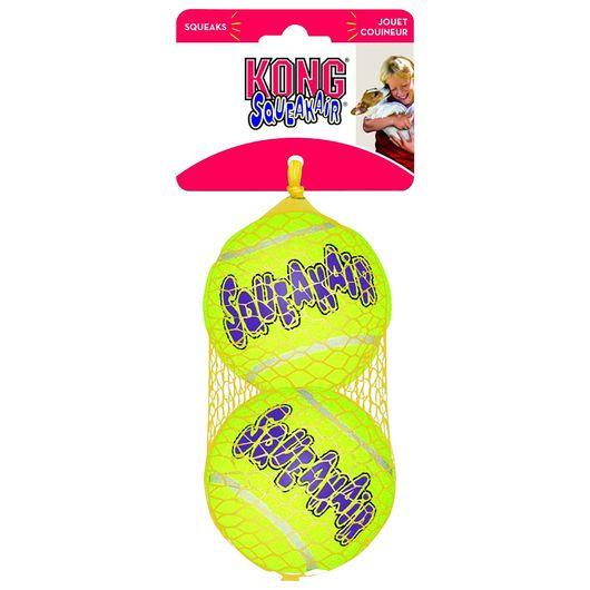 Hundelegetøj - Kong Air Squeaker bold 9 cm 2-pak
