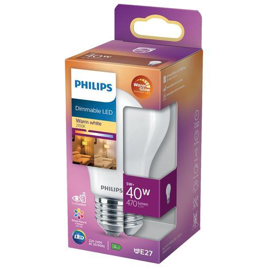 Philips - LED-pære 5W E27 A60 dæmpbar