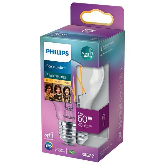 Philips LED-filamentpære Scene Switch E27