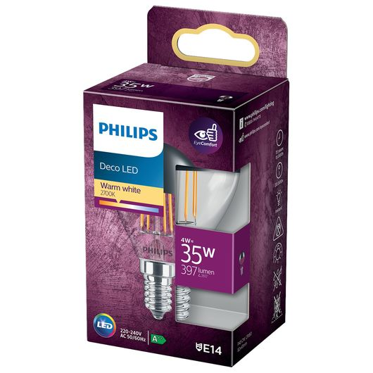 Philips - Spejlkrone 4W E14 P45
