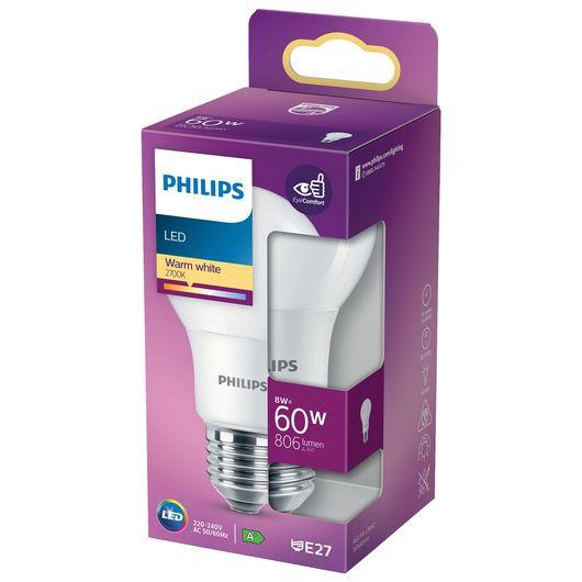 Philips LED-pære 8W E27 A60
