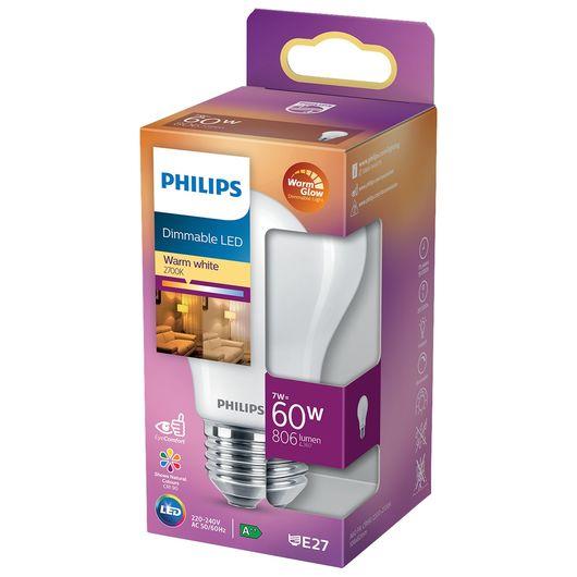 Philips LED-pære E27 A60 dæmpbar