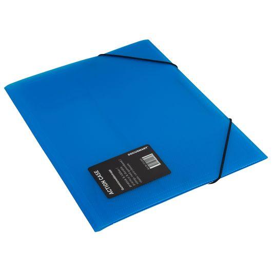 Elastikmappe plast A4 - Blå