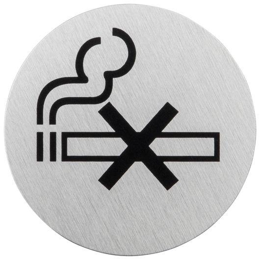 Dørskilt selvklæbende 'Rygning forbudt'