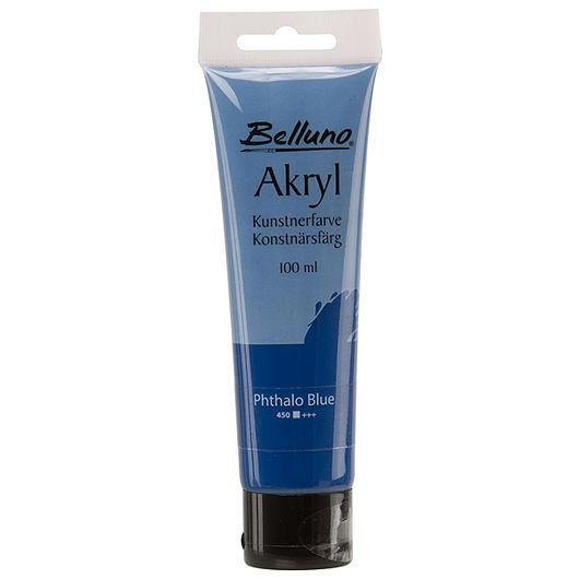Belluno - Akryl 100 ml phthaloblå