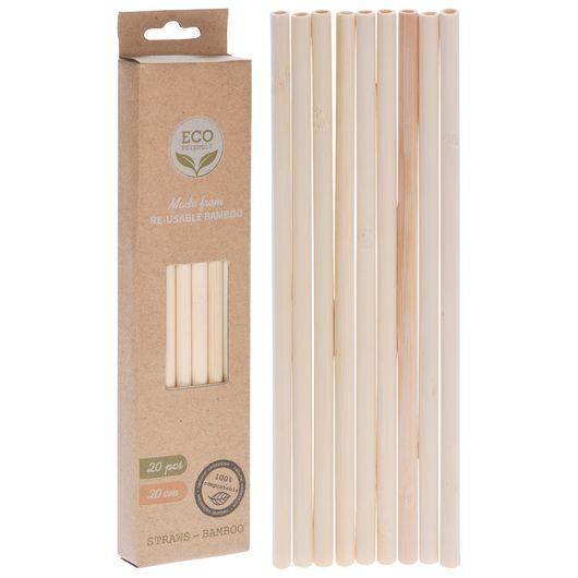 Sugerør i bambus 20-pak