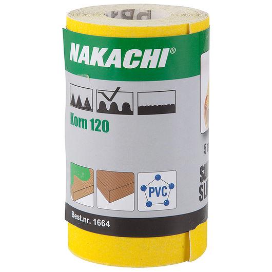 Nakachi - Slibepapir 115 mm x 5 m K120