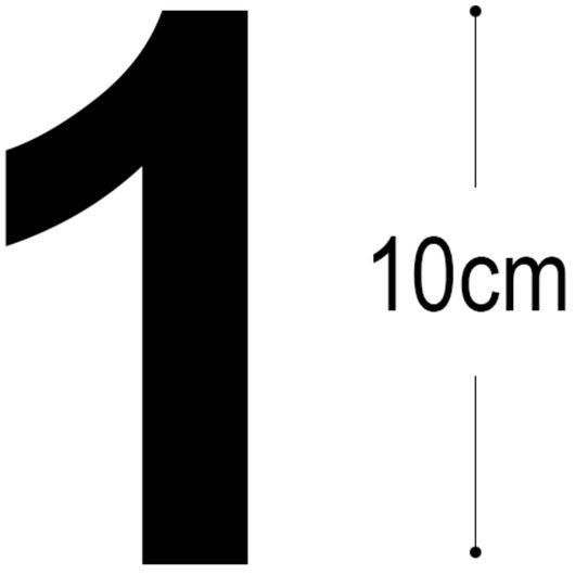 Allux - Folietal 1 - sort 10 cm