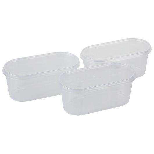 Plast Team - Helsinki fryseboks 0,8 liter - 3-pak